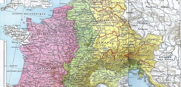 Karolingische Rijk 843 Verdun