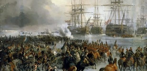 Nederlandse vloot veroverd door cavalerie