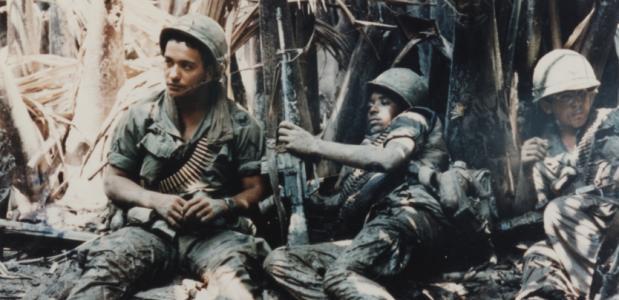 Amerikaanse soldaten in de Vietnamoorlog.