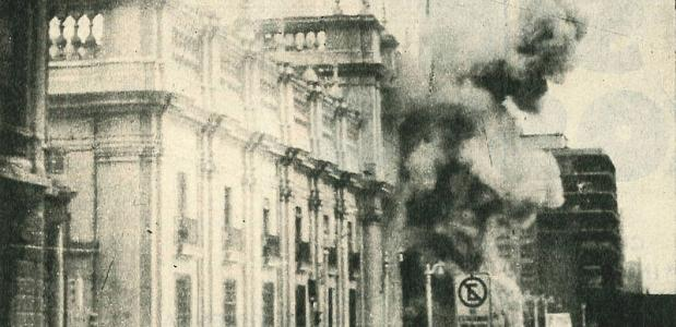 Bombardement op La Moneda, het presidentieel paleis in Chili