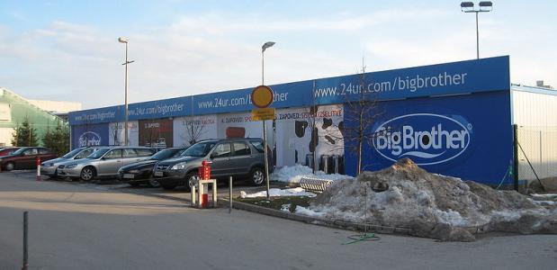 Het Big Brother gebouw in Ljubljana in 2007