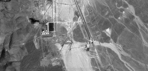 de Area 51 in 1968 op een sattelietfoto