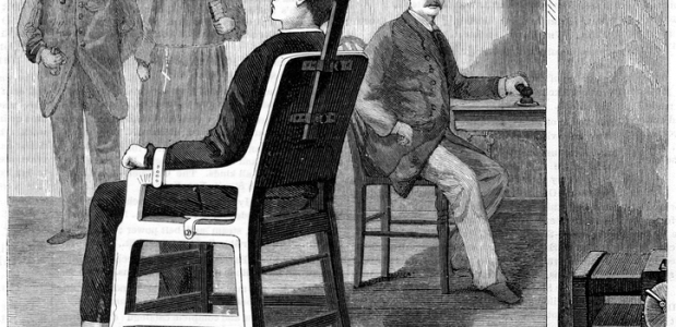 De doodstraf door middel van de elektrische stoel.