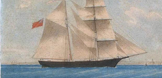 De Mary Celeste wordt ook wel 'spookschip' genoemd.
