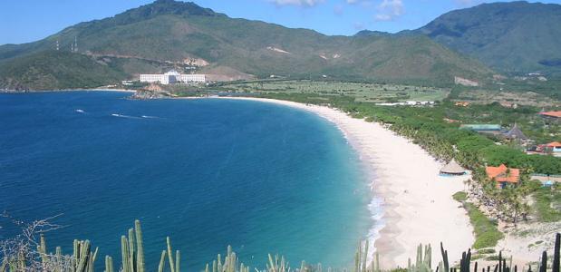De Caraïbische Zee in Venezuela.