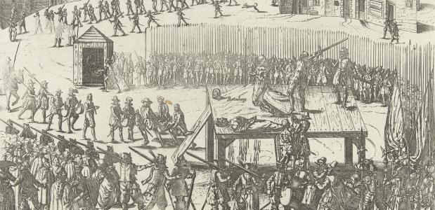 Onthoofding van achttien edelen, Frans Hogenberg (Creative Commons Rijksmuseum)