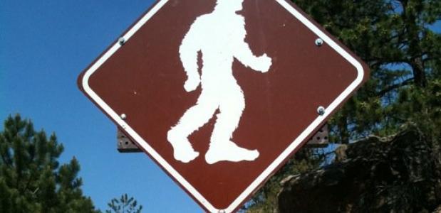 Bigfoot waarschuwingsbord
