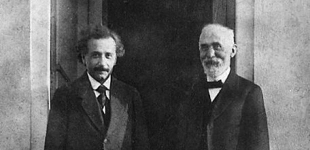 Hendrik Lorentz en Albert Einstein