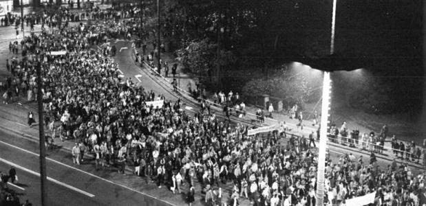 Maandaggebeden Protest Leipzig 1989