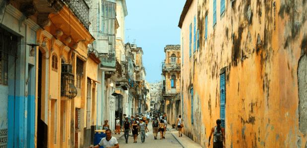 Cubaanse straatbeeld geschiedenis