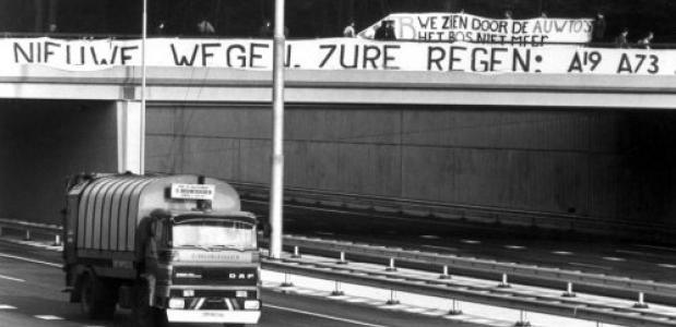 Protest tegen aanleg A27 door Amelisweerd