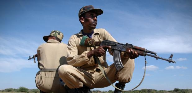 Ethiopsiche soldaten