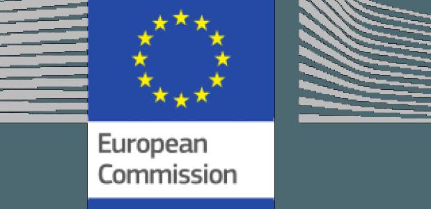 Het logo van de Europese Commissie.