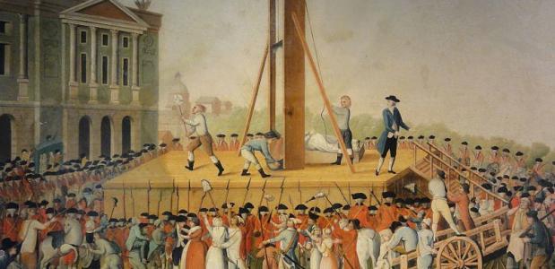Executie van Marie Antoinette tijdens het Terreurbewind (Wikimedia Commons)