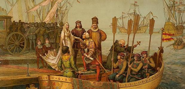 Columbus vertrekt