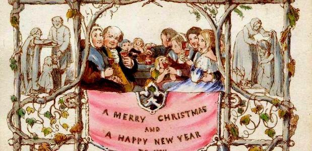 De eerste kerstkaart