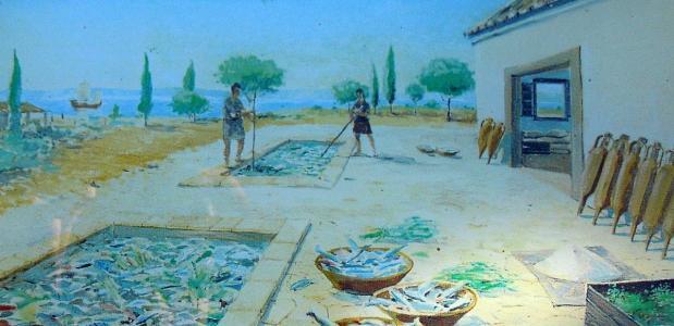 In vistanks zoals deze werd vis in de zon gefermenteerd tot de populaire Garum-saus.