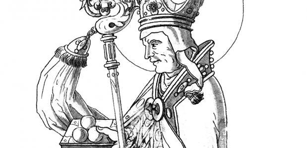 Zestiende-eeuwse prent van Sint Nicolaas.