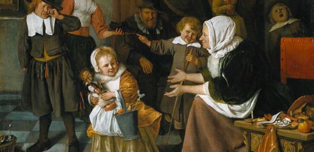Het Sint-Nikolaasfeest, Jan Steen, 1665.