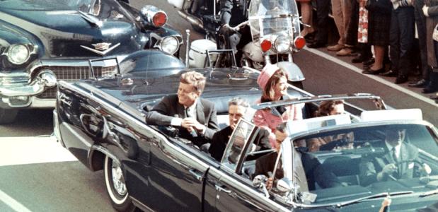 Kennedy een paar minuten voor de moord