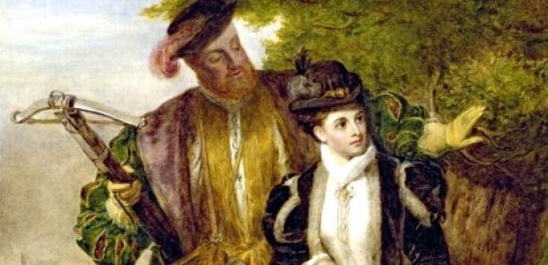 Henry VIII en Anna Boleyn