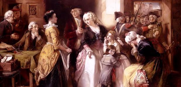 De arrestatie van de Franse koning Lodewijk XVI.
