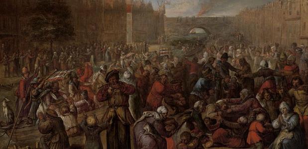 Het Beleg van Leiden, als onderdeel van de Tachtigjarige oorlog.