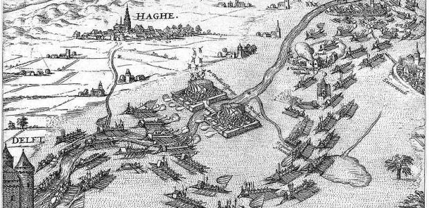Het Beleg van Leiden eindigde in het ontzet van de stad in 1574