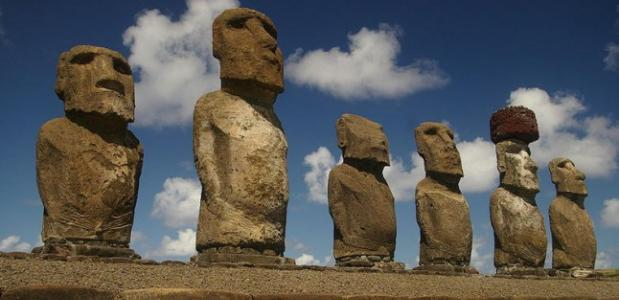 De Wandelende Standbeelden Van Paaseiland Isgeschiedenis