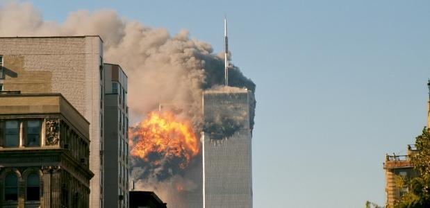 World Trade Center Torens Brand Aanslag 11 september 9/11 New York