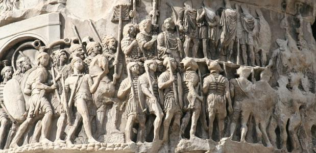Marcherende Romeinse legionairs