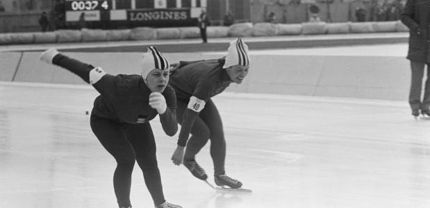 Oude schaatspakken