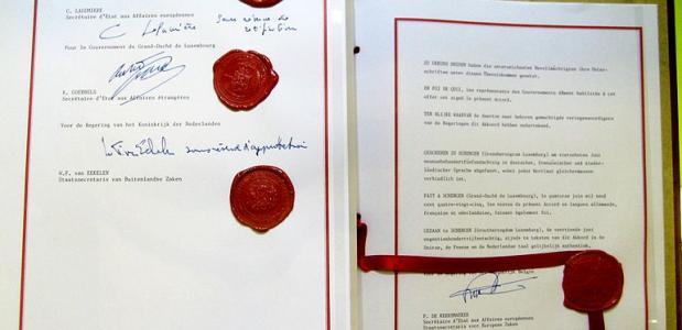 Het verdrag van Schengen.