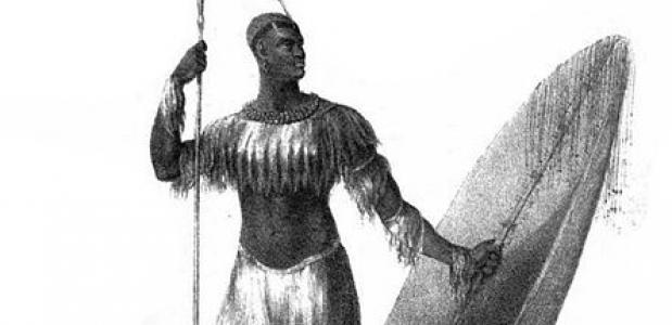 Shaka Zulu leider van het zoeloekoninkrijk