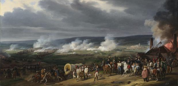 Slag bij Jemappes. Een schilderij van Henry Scheffer uit 1834. Bron: Wikimedia Commons.