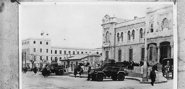 Staatsgreep in Syrie, militairen in Damascus, 1949. Bron: Nationaal Archief Anefo.