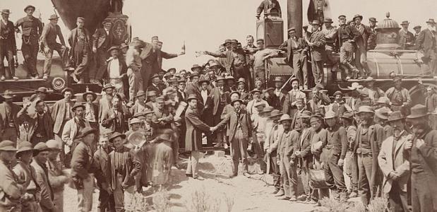 Transcontinental Railroad Utah 1869 Golden Spike