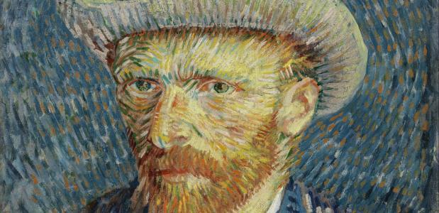 Een zelfportret van Vincent van Gogh.