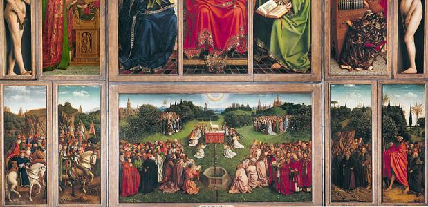 Jan van Eyck, De aanbidding van het Lam Gods (Wikimedia Commons)