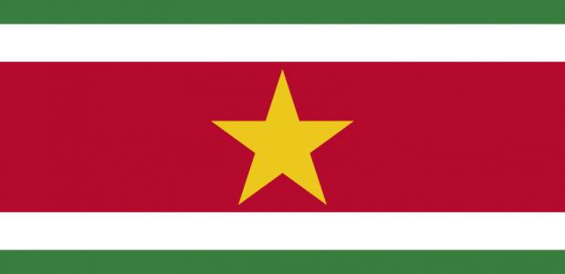 Vlag Suriname Onafhankelijkheid 1975