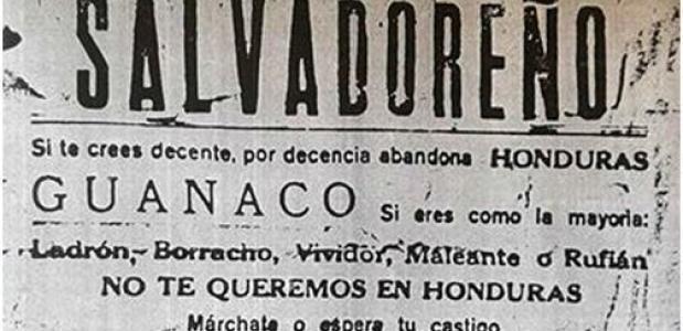 Anti El Salvador pamflet Voetbaloorlog 1969 Honduras