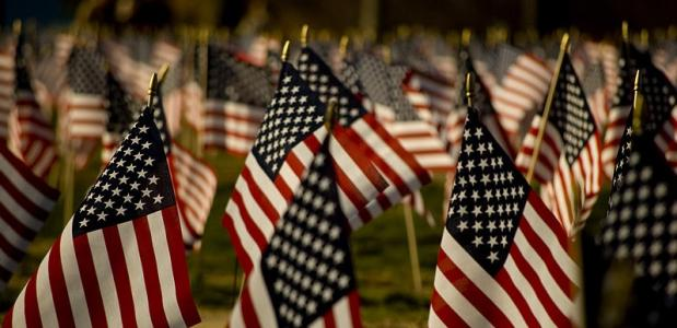 De amerikaanse vlag zoals hij nu bekend is