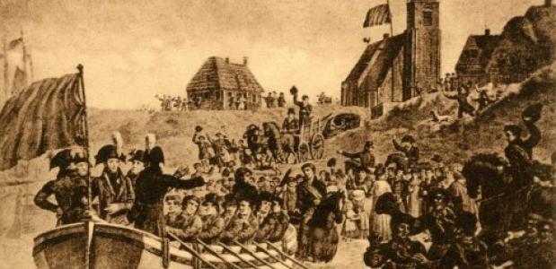 Aankomst Willem I in Scheveningen