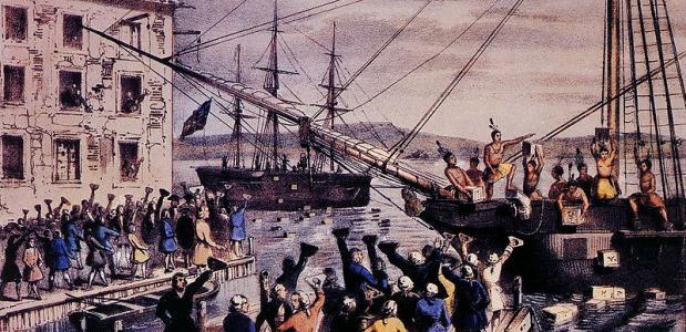 Amerikaanse Revolutie Boston Tea Party