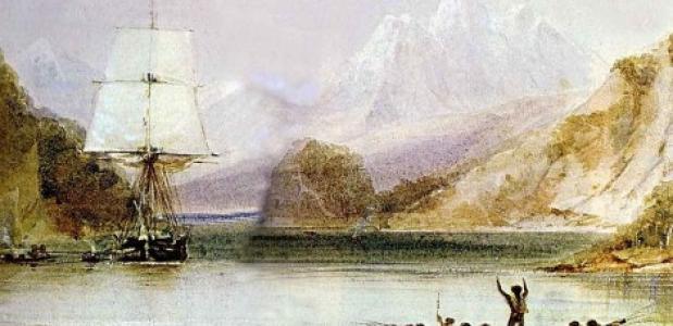 HMS Beagle door Conrad Martens
