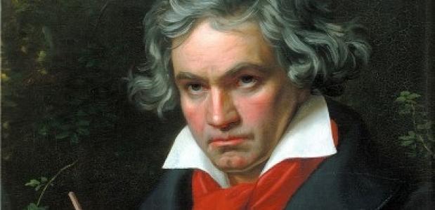 Een portret van Ludwig van Beethoven.