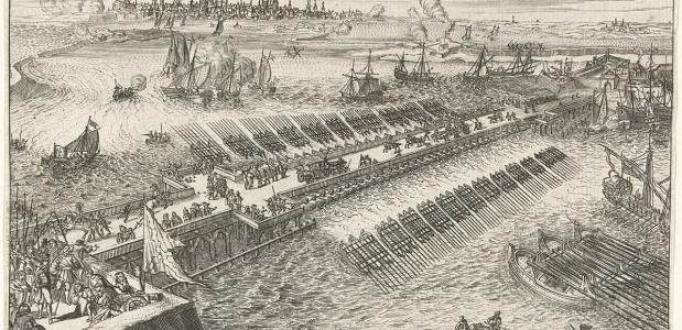 Parma's brug tijdens het beleg van Antwerpen