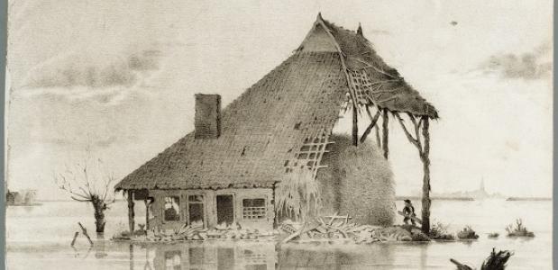 Overstroming Workumer Nieuwland 1825