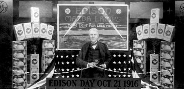 Thomas Edison En Het Elektrisch Licht Isgeschiedenis