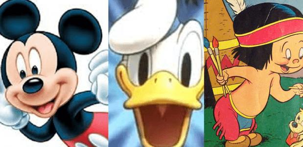 De Geschiedenis Van Disneys Donald Mickey En Hiawatha